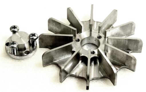 "3"" (76 mm) OD Mini Aluminum Replacement EZE-Fan® & EZE-Hub®"