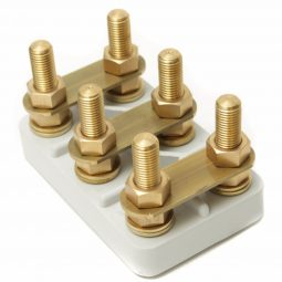 Terminal Blocks, with recessed mounting slots, 6-pole, thermal class F, UL-registered